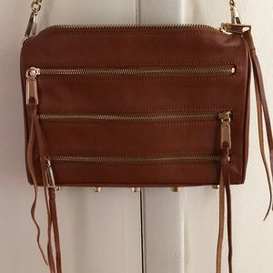 Rebecca Minkoff 5-Zip Leather Crossbody